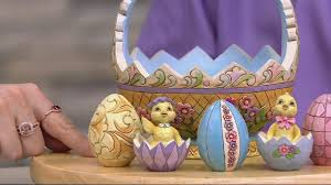 jim shore easter baskets jim shore exclusive 13th annual easter basket w eggs on qvc