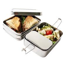 ecolunchbox stainless steel rectangular 3 in 1 lunch box the