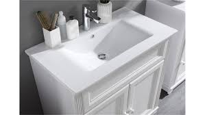 Bad Waschtisch Set Jasmin 5 Tlg Mit Waschbecken In Lärche Weiß