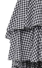 Gingham Vs Plaid Vs Tartan Giulia Asymmetric Gingham Skirt By Caroline Constas Moda Operandi