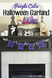 halloween craft purple cat garland this mama loves