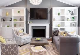 grey yellow green living room interior designs grey living room with pops of soft color in