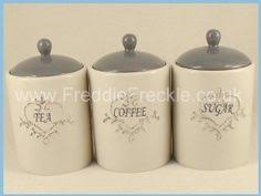 vintage black and white ceramic canister set holiday designs