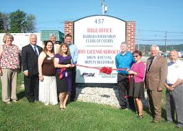 ohio bureau of motor vehicles ribbon cutting held at batavia bmv office the clermont sun