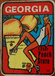 Georgia travel state images Vintage travel decals from jpg