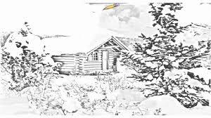 log cabin drawings auto draw 2 cozy log cabin mount assiniboine british columbia