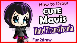 Halloween Drawing How To Draw Cute Mavis From Hotel Transylvania Easy Halloween
