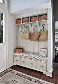 appealing hallway organizer with hooks and storage bench using