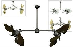 twin star ii ceiling fan twin star ii double ceiling fan with 35 inch abs plastic outdoor