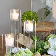 large acrylic votive candle centerpiece riser clear large vue2