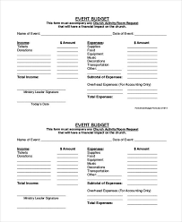 9 event budget form free sample example format download