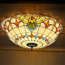 stained glass ceiling light fixtures buy tiffany style stained glass ceiling lights mediterraneanstyle