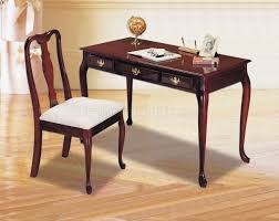 Home Office Furniture Desk Cherry Finish Classic Home Office Desk W Chair