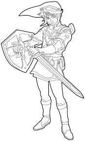 the legend of zelda link coloring toon link coloring pages