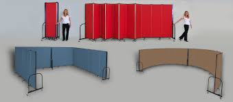 tri fold room divider portable room dividers folding temporary walls screenflex