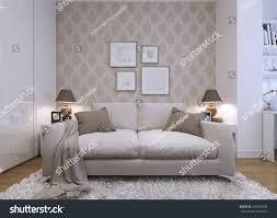 Beige Sofa What Color Walls Beige Sofa Living Room Modern Style Stock Illustration 291074945