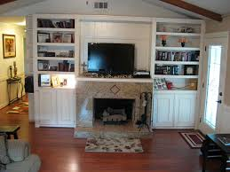 White Electric Fireplace With Bookcase by Interior Good Picture Of Living Room And Interior Decoration
