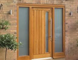 Cheap Exterior Doors Uk Wooden Front Doors External Solid Oak Glazed Exterior Front