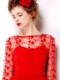 hollow free exchanges red lace detail sheer long sleeve maxi dress