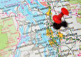 seattle map by county uk 13 june 2012 seattle marked with pushpin on
