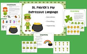 st patrick u0027s day expressive language the speech bubble