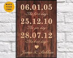 5 year anniversary gift for him 5th anniversary gift for men gift rustic wood wall 5 year