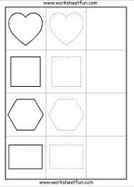 shape tracing u2013 circle pentagon oval heart square hexagon