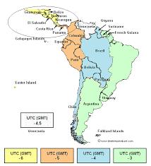 utc zone map central america zone central america current