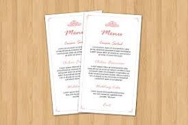 wedding menu card template stationery templates creative market