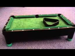 miniature pool table review youtube