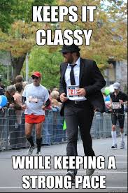 Classy Guy Meme - extremely photogenic suit marathon guy memes quickmeme