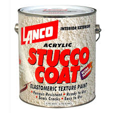 lanco stucco coat 1 gal acrylic ultra white elastomeric texture