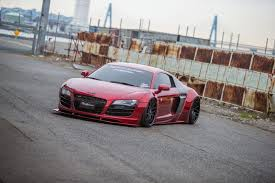 audi r8 slammed liberty walk dresses up first gen audi r8