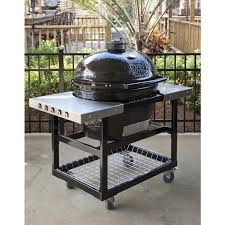 Backyard Grill Thermometer by Primo Ceramic Charcoal All In One Kamado Grill Oval Lg 300