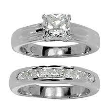 princess cut wedding set classic princess cut prong set cz wedding set style ring in