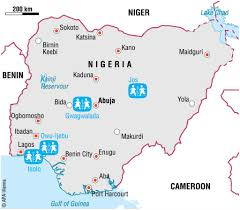 Map Of Nigeria Africa Nigeria Sos Children U0027s Villages United Kingdom