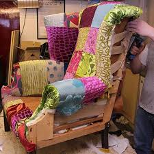 Patchwork Upholstered Furniture - furniture reupholstery upholstery services uk fabric mills