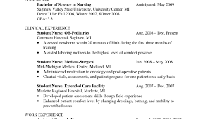 nursing resume sle nursing student resume clinical experience resume and cover