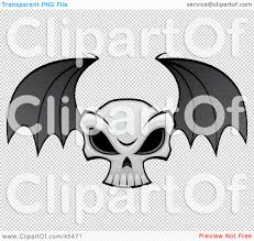 halloween bats transparent background royalty free rf clipart illustration of a flying evil skull with
