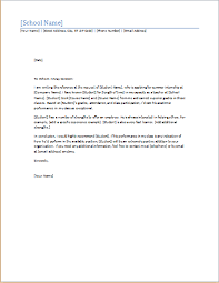 doc 413425 template recommendation letter for student u2013 sample