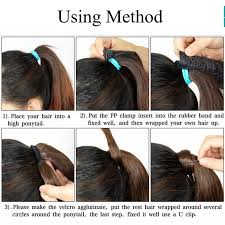 how to braid extensions into your own hair luxury for braiding 24inch 60cm straight drawstring ponytail