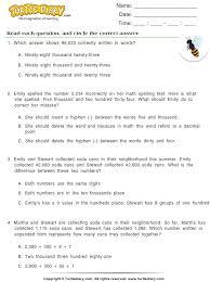 write numbers in words worksheet turtle diary