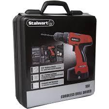 stalwart 89 piece 18 volt cordless drill set walmart com