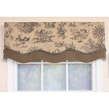 country side charcoal glory window valance by rlf home the