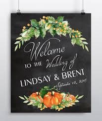 wedding chalkboard fall wedding decor chalkboard wedding sign personalized