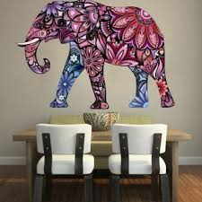 Elephant Bedroom Decor Elephant Wall Decals Full Color Indian From Amazon Full Color
