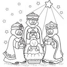9 christmas color sheets images nativity