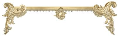 Cream Wooden Curtain Poles Elegant Italianate Collection Antique Drapery Rod Company Gold