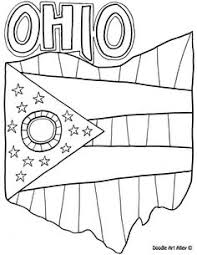 ohio state symbols coloring page homeschool pinterest ohio