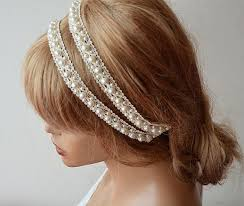 pearl headband rustic wedding headband lace and pearl headband wedding hair